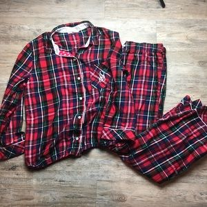 Victoria's Secret plaid Christmas holiday pajamas